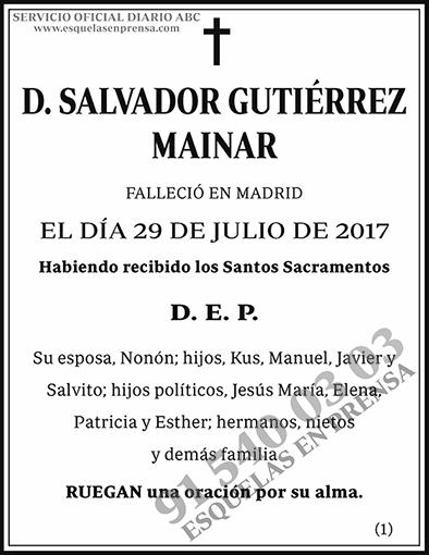 Salvador Gutiérrez Mainar